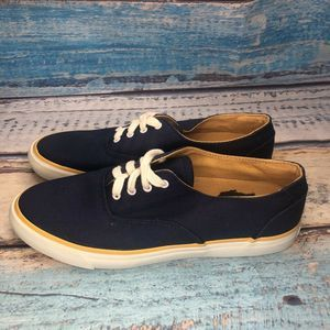 ROCKPORT (W5236) Women's Navy Blue Canvas Lace-Up
